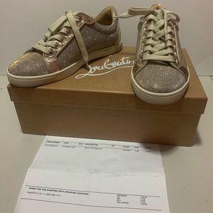 Christian Louboutin Seava gold sneakers 37.5